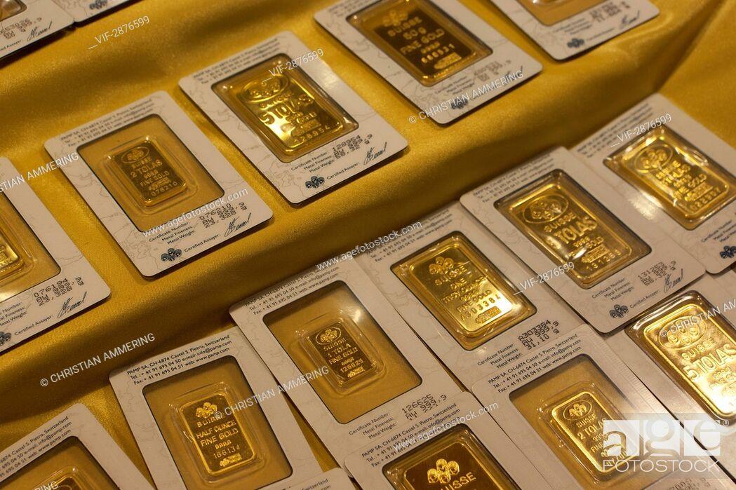 Imagen: UNITED ARAB EMIRATES, DUBAI, 14.04.2011, Gold bars - DUBAI, DUBAI, UNITED ARAB EMIRATES, 14/04/2011.