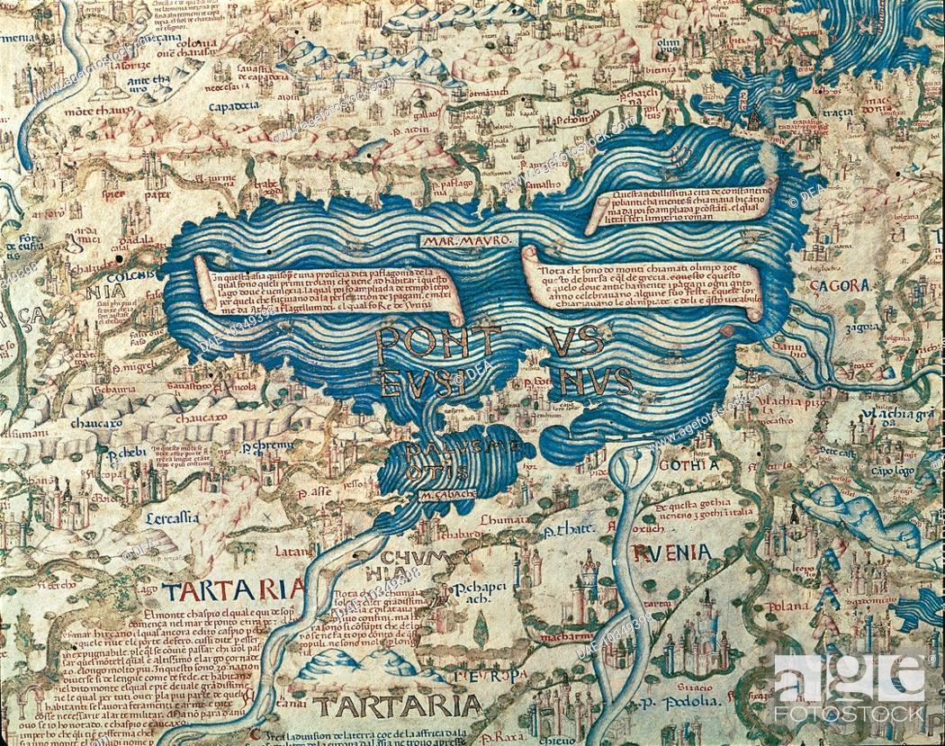 Cartography 15th century map of black sea from world map by 0 gumiabroncs Gallery
