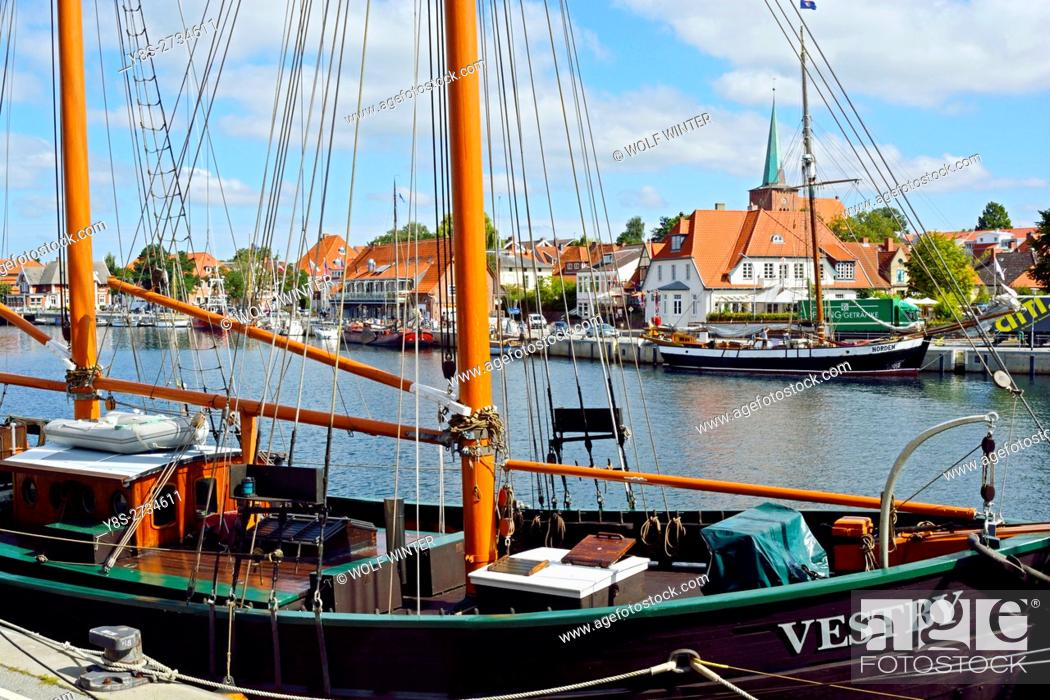 Stock Photo: At the Bay of Luebeck. One of the most popular vacation regions in the north of Germany. . Neustadt, Schleswig-Holstein.