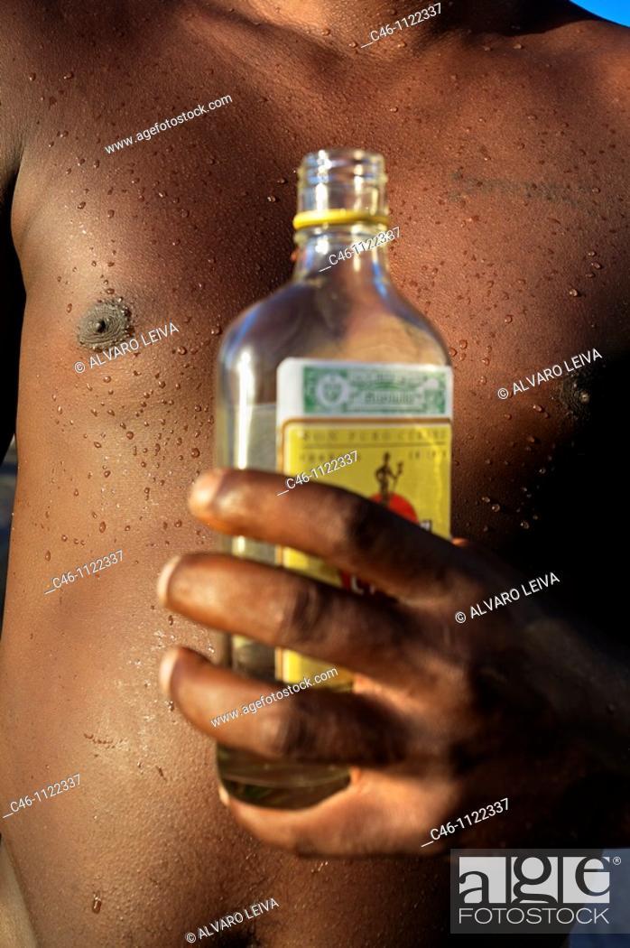 Stock Photo: Man. Centro Havana District. Havana. Cuba.