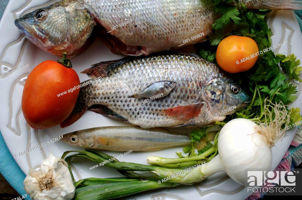 Stock Photo: Fish Lake Patzcuaro Mexico.