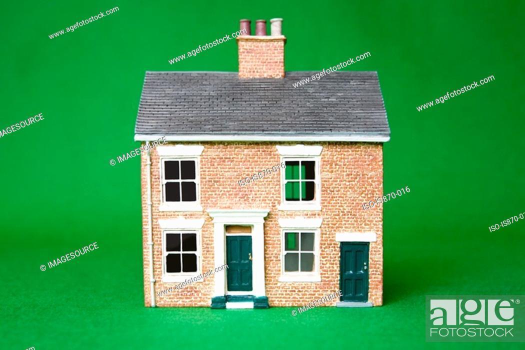 Stock Photo: Model houses.