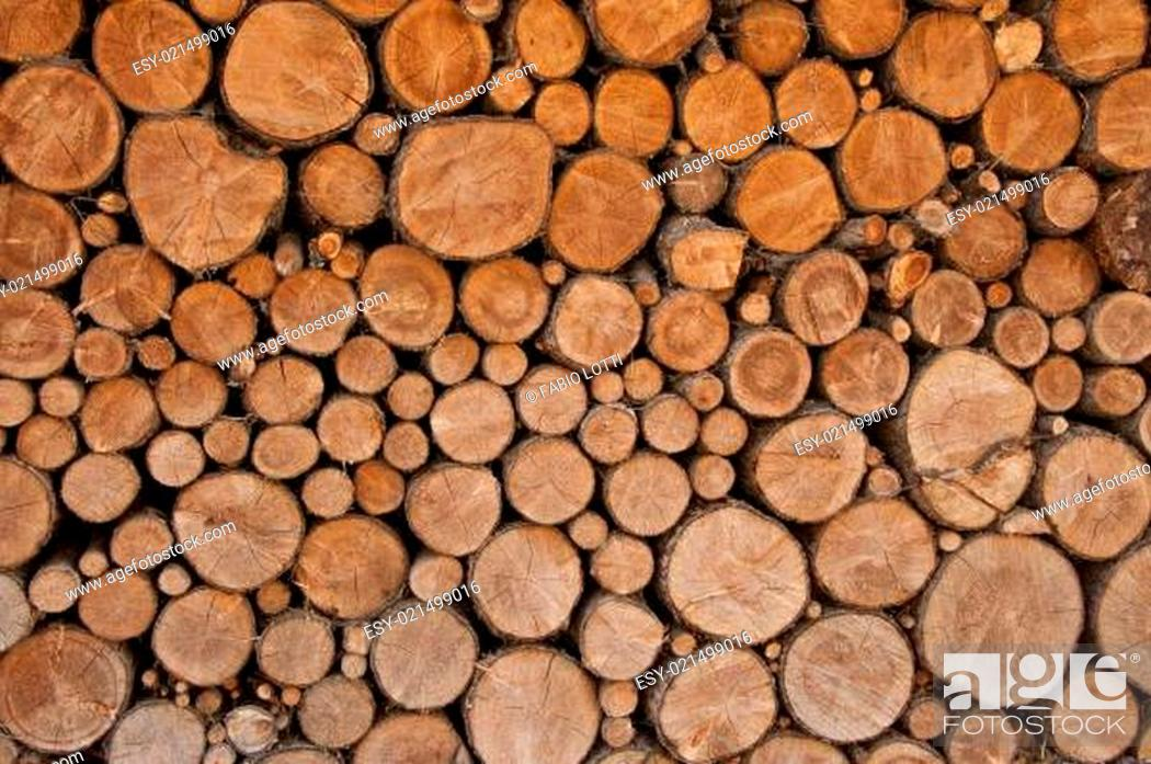 Stock Photo: stack of firewood.