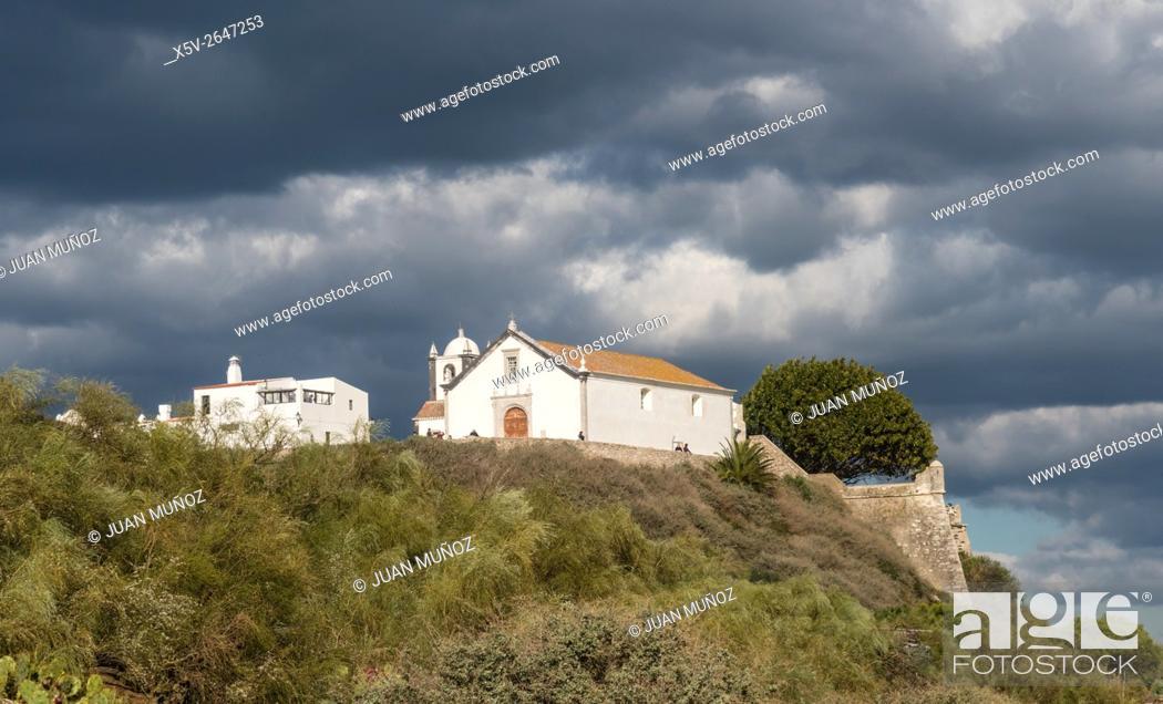 Stock Photo: Chapel of Cacela Velha. Algarve. Portugal.