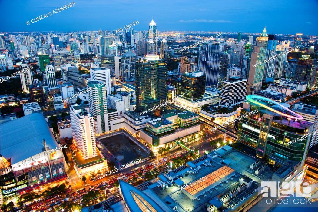 Stock Photo: Skyline  Bangkok  Thailand.