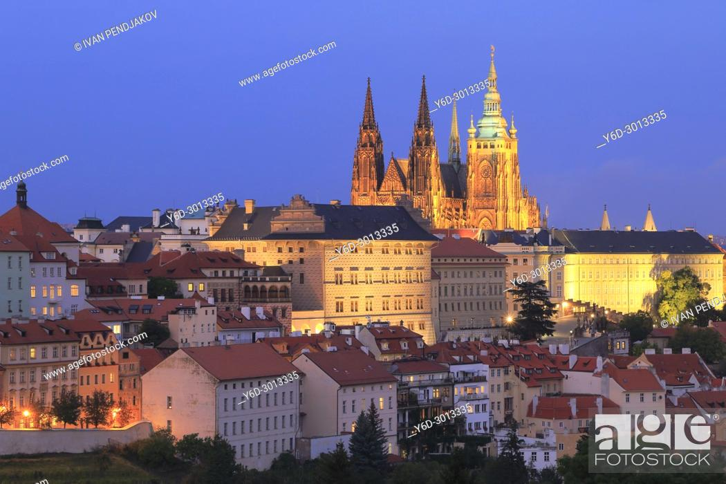 Stock Photo: Prague at Dusk, Czech Republic.
