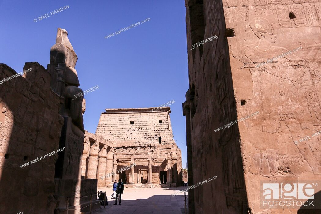 Stock Photo: Temple of Luxor, Egypt.