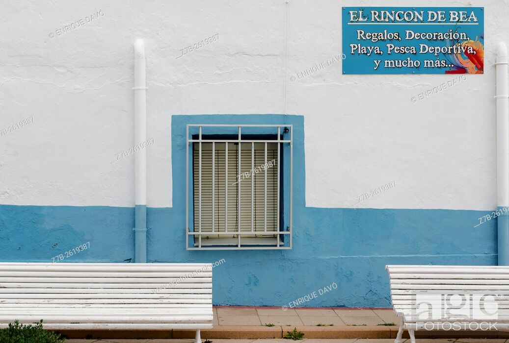 Stock Photo: A nautical store view closed to the Carboneras port, Almería province, Spain.