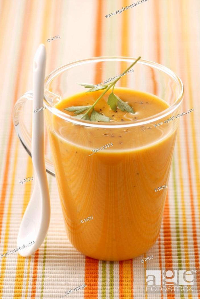 Stock Photo: Cream of pumpkin.