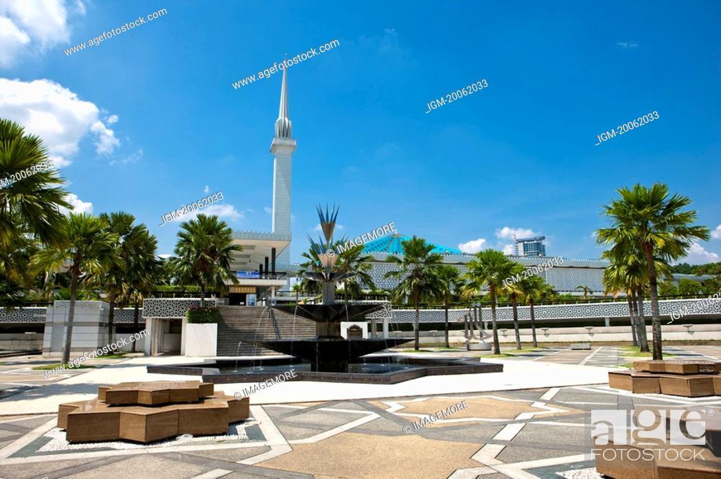 Stock Photo: Malaysia, Kuala Lumpur, National Mosque.