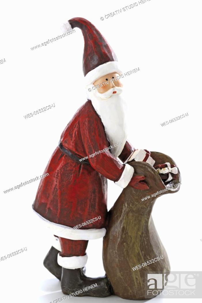 Stock Photo: Santa Claus figurine, close-up.