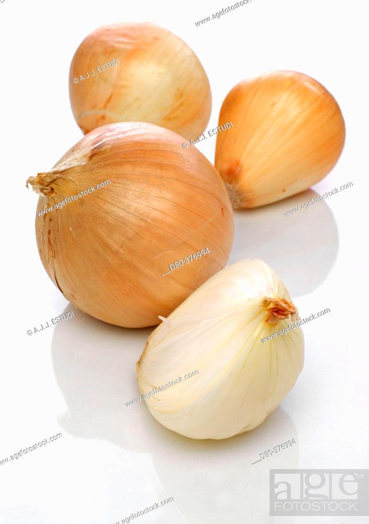 Stock Photo: Dry onions.
