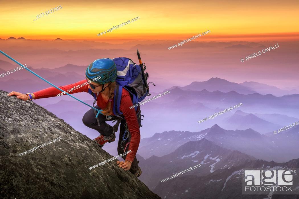 Stock Photo: Italy. Piedmont. Alps.