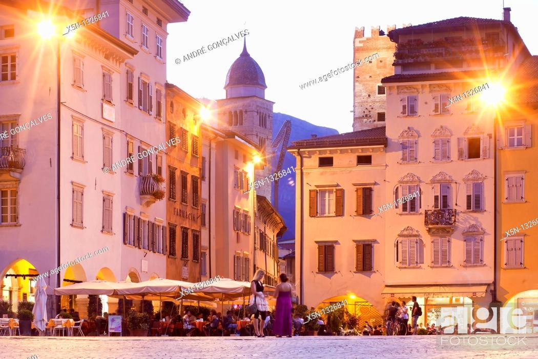 Stock Photo: Piazza Duomo, Trento, Italy.