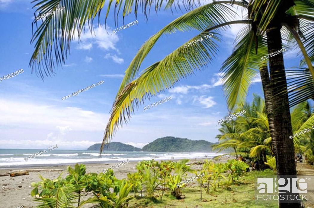 Stock Photo: Costa Rica, Pacific coast landscape.
