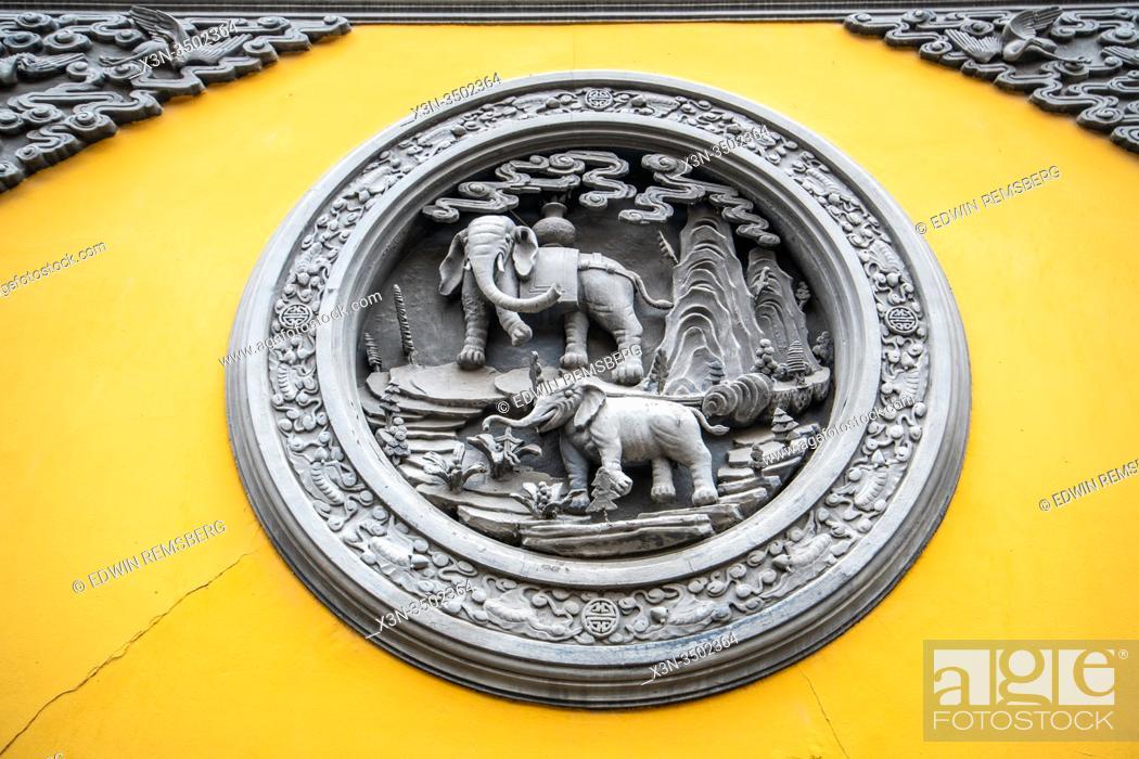 Stock Photo: An ornately sculpted symbol , Shanghai, China.