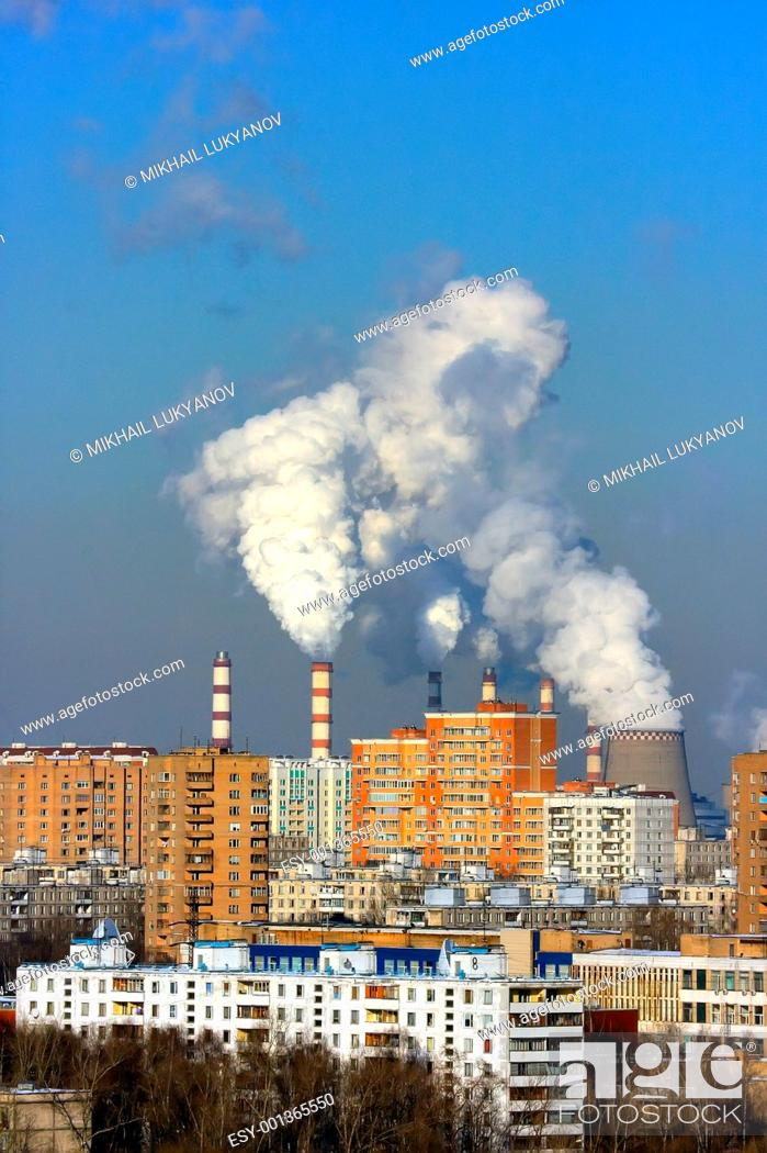Stock Photo: Thermal power station.