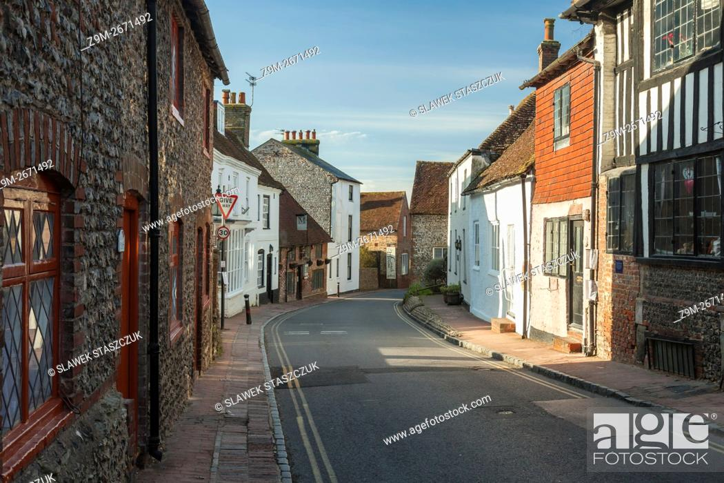 Stock Photo: Spring morning in Alfriston, East Sussex, England.