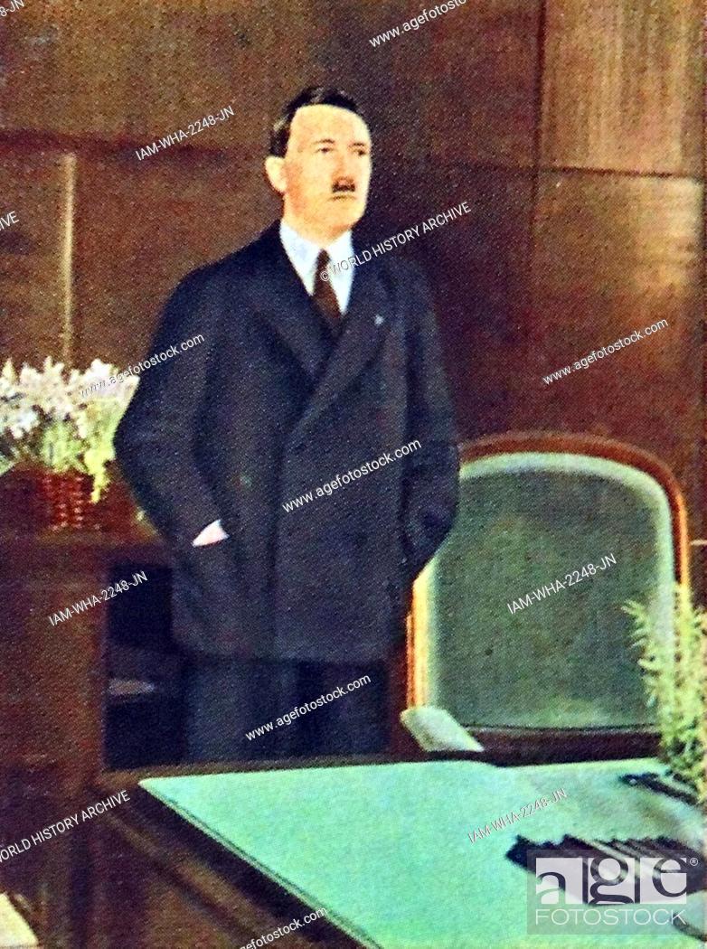 Stock Photo: Adolf Hitler in his office circa 1933.