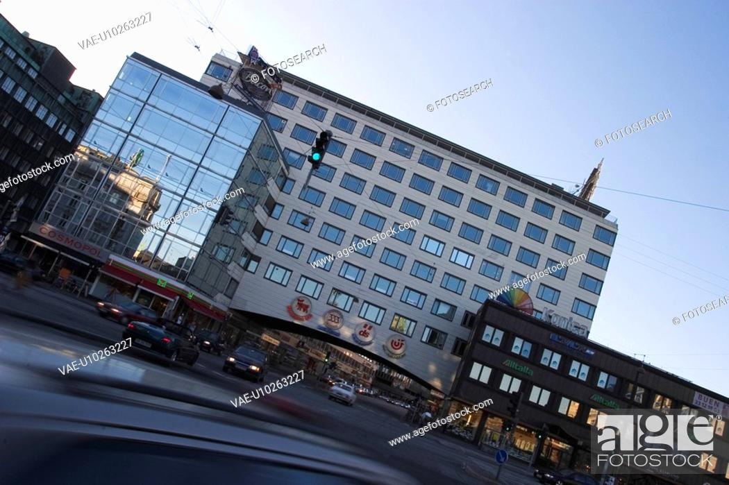 Stock Photo: Building, Day, Cars, Building Exterior, Architecture.