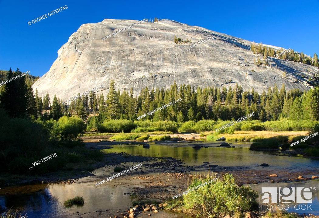 Stock Photo: Lembert Dome, Yosemite National Park, California.