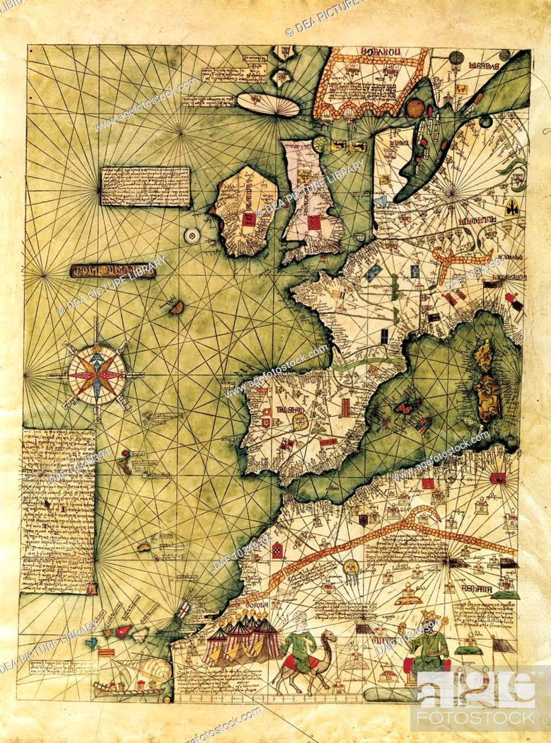 14th Century Map Of Europe.Cartography 14th Century Map Of Western Europe North Western