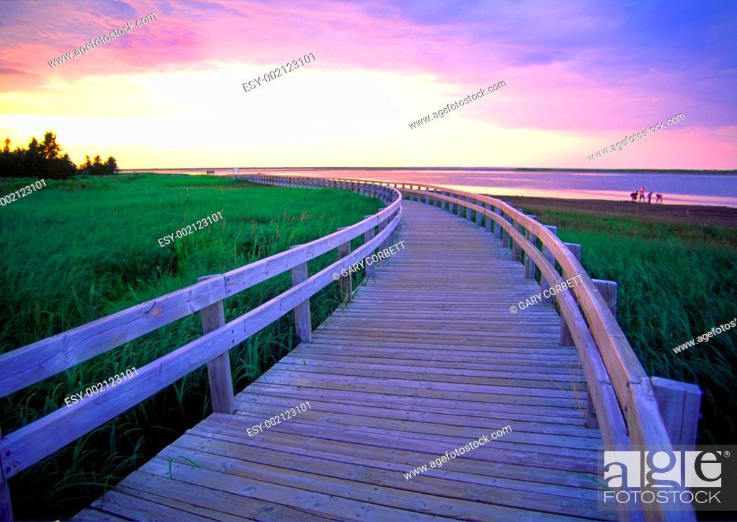 Imagen: a boardwalk at Kelly's Beach Kouchibouguac National Park New Brunswick Canada.