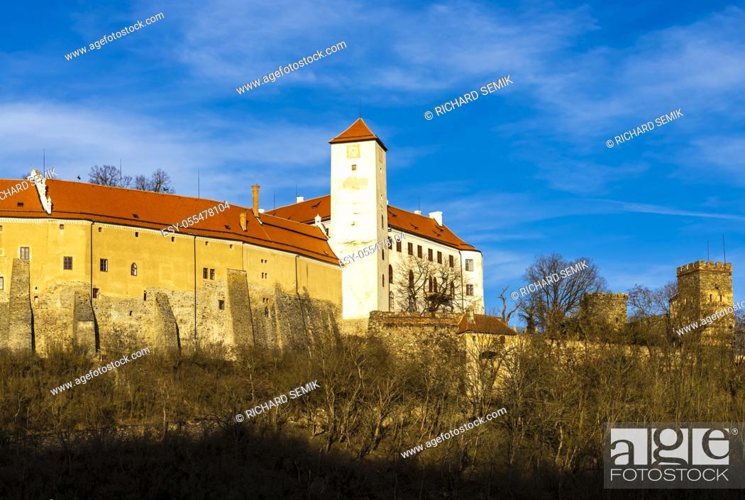 Stock Photo: Bitov castle in Czech Republic.