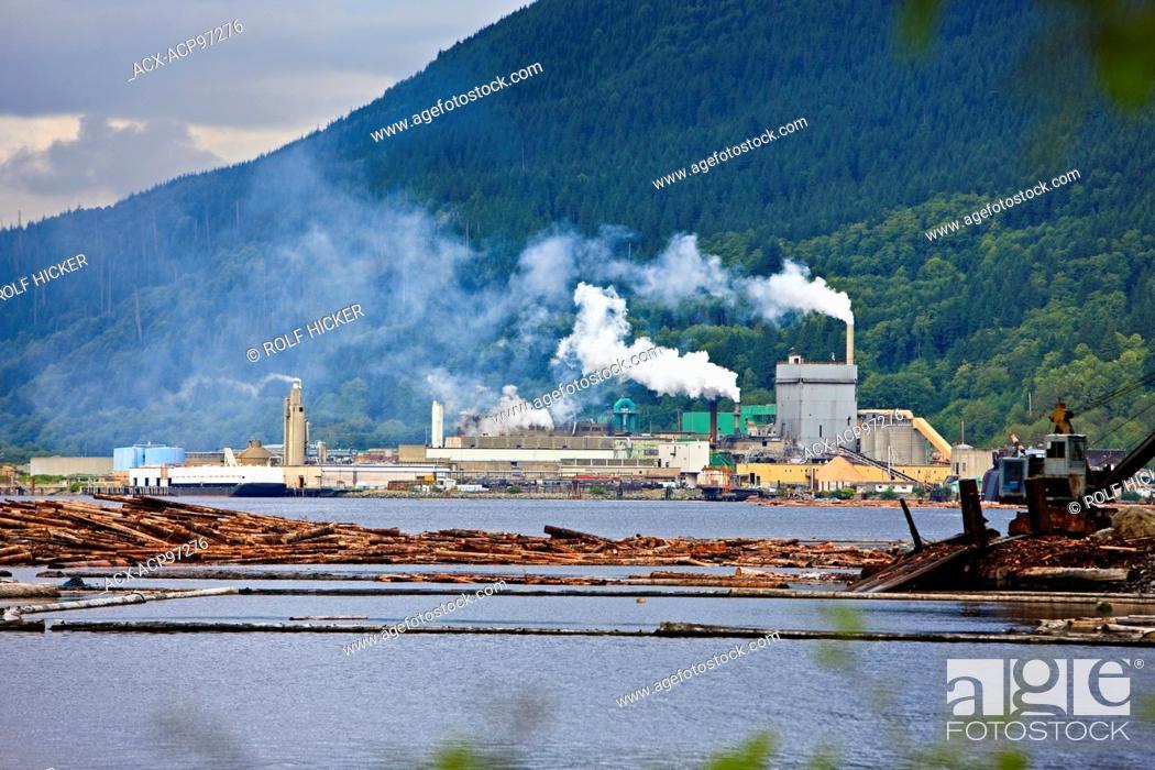 Imagen: Pulp Mill, Port Alice, Northern Vancouver Island, Vancouver, British Columbia, Canada.