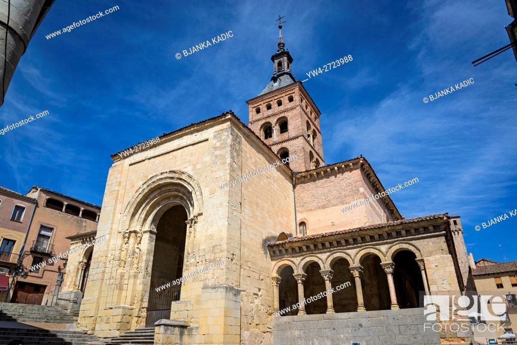 Stock Photo: Church of St Martin, Segovia, Castilla y Leon, Spain.