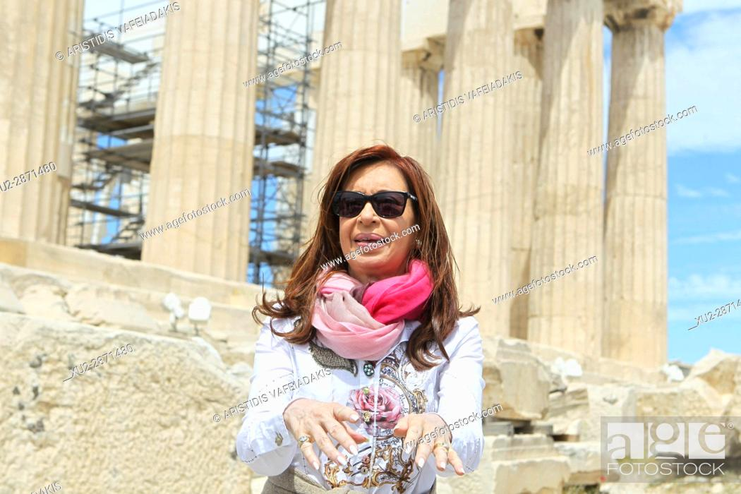 Imagen: Former Argentine president Cristina Fernandez de Kirchner visits Acropolis. Cristina Fernandez de Kirchner is in Athens invited by the governing SYRIZA party.