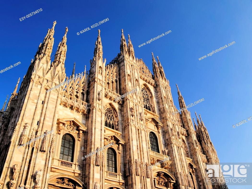 Photo de stock: Beautiful Gothic Cathedral in Milan, Lombardy, Italy.