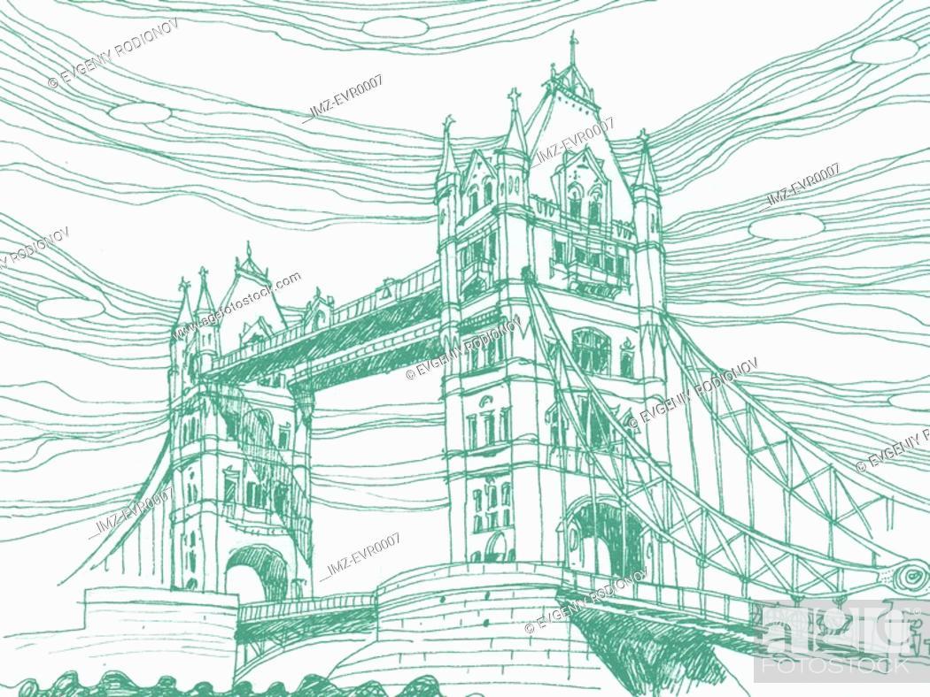 Stock Photo: Tower Bridge in London.