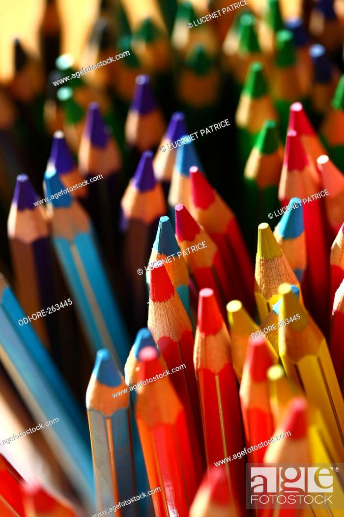 Stock Photo: Colouring pencils.