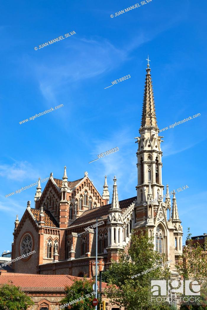 Stock Photo: Sant Francesc de Sales Church, Barcelona, Spain.