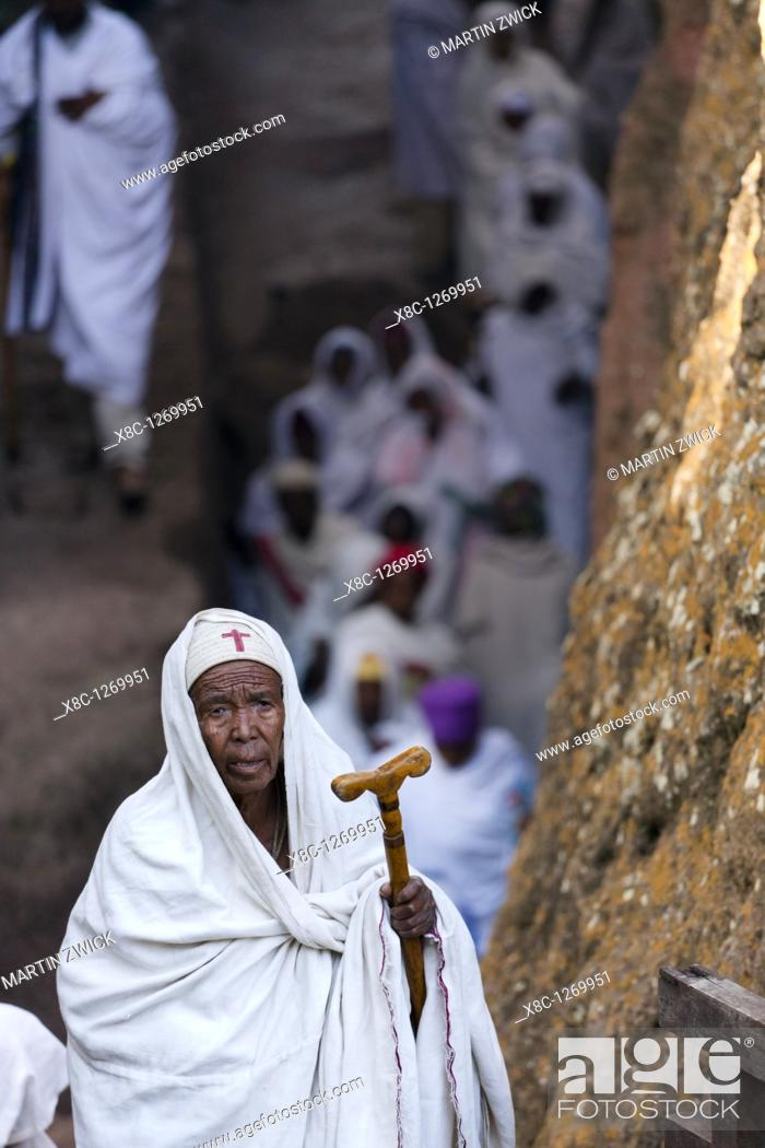 Stock Photo: Meskel Cerimony in Lalibela Meskal, Meskal, Maskal, Mescel, Mesquel, which is taking place every September  For Meskel many pilgrims are coming to lalibela.