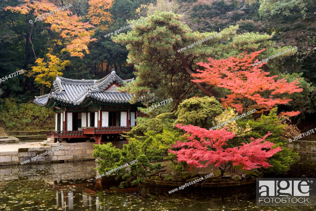 Stock Photo: Gardens of Chongmyo royal shrine, Seoul. South Korea.
