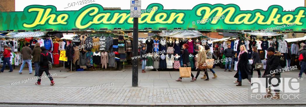 Stock Photo: England, Camden town, Camden street market.