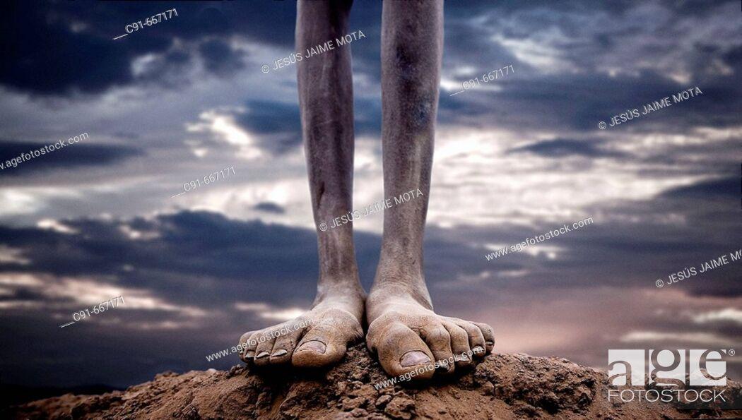 Stock Photo: Feet. Ethiopia. African tribes.
