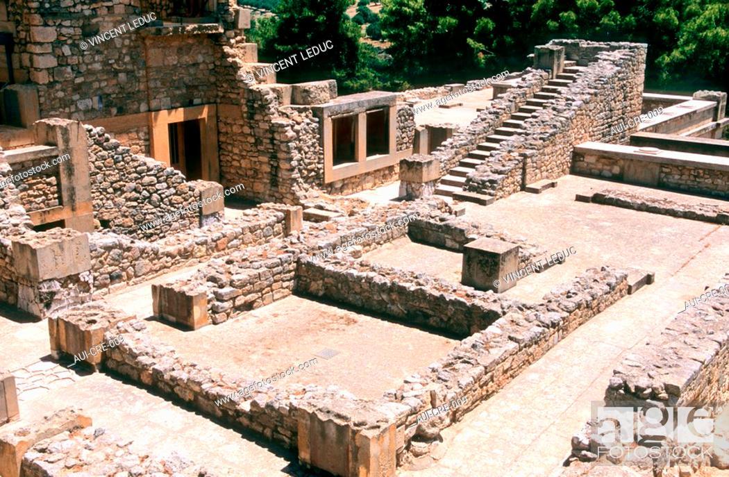 Stock Photo: Greece - Crete - Knossos - Minoens Site.