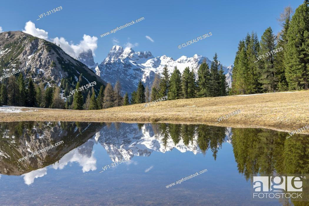 Stock Photo: Prato Piazza/Plätzwiese, Dolomites, South Tyrol, Italy.