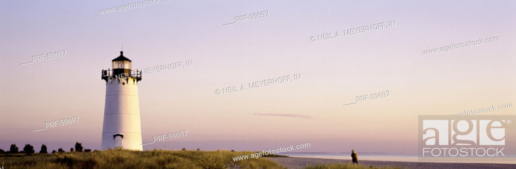 Stock Photo: Edgartown Lighthouse Marthas Vineyard MA.