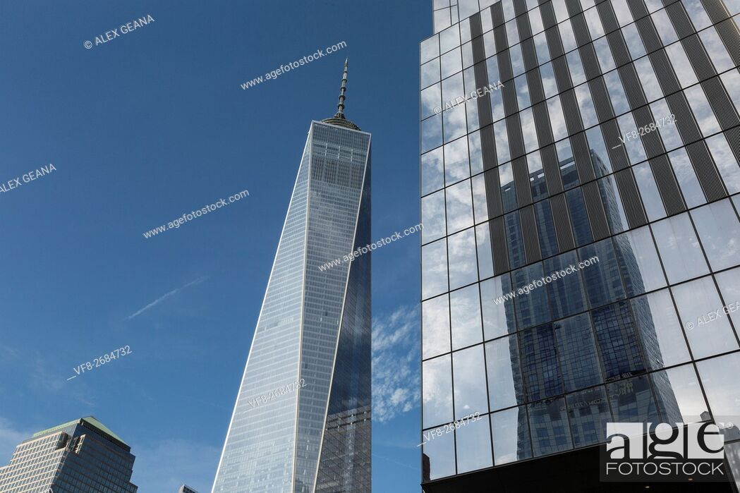 Stock Photo: buidling, building, cities, Conde Nast, corbis cities, downtown, downtown new york, finance, freedome tower, media, New York, New York City, NYC, skyscraper.
