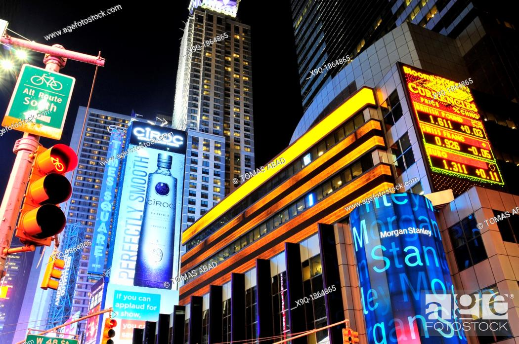 Morgan Stanley building, Times Square, 42nd Street, New York City