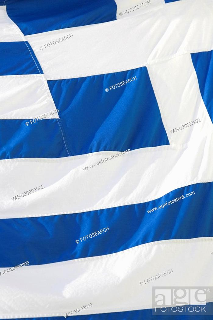 Stock Photo: Blue, Close-Up, Cross Shape, Flag, Flying.