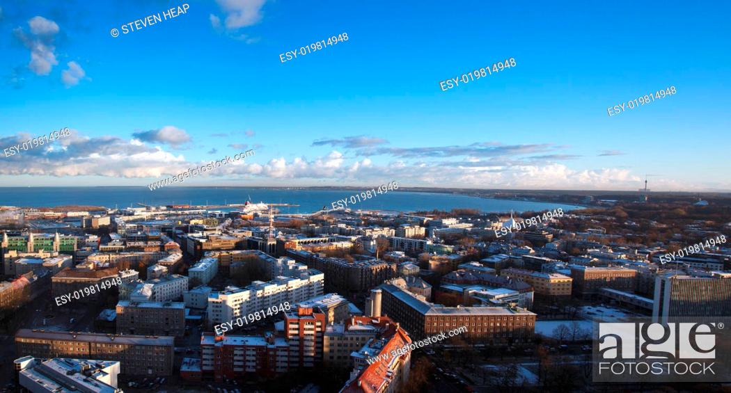 Stock Photo: Views of the Old Town of Tallinn in Estonia.