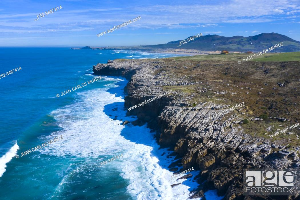 Stock Photo: Landscape in the Usgo beach area, Natural Park of the Dunes of Liencres, Liencres, Piélagos Municipality, Cantabrian Sea, Cantabria, Spain, Europe.