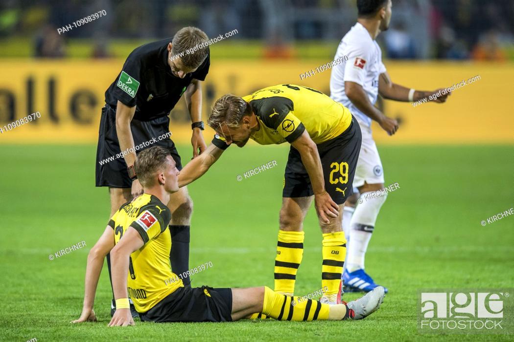 Stock Photo: Football: 1st Bundesliga, season 2018/2019, 3rd matchday, Borussia Dortmund - Eintracht Frankfurt on 14.09.2018 at the Signal Iduna Park in Dortmund (North.
