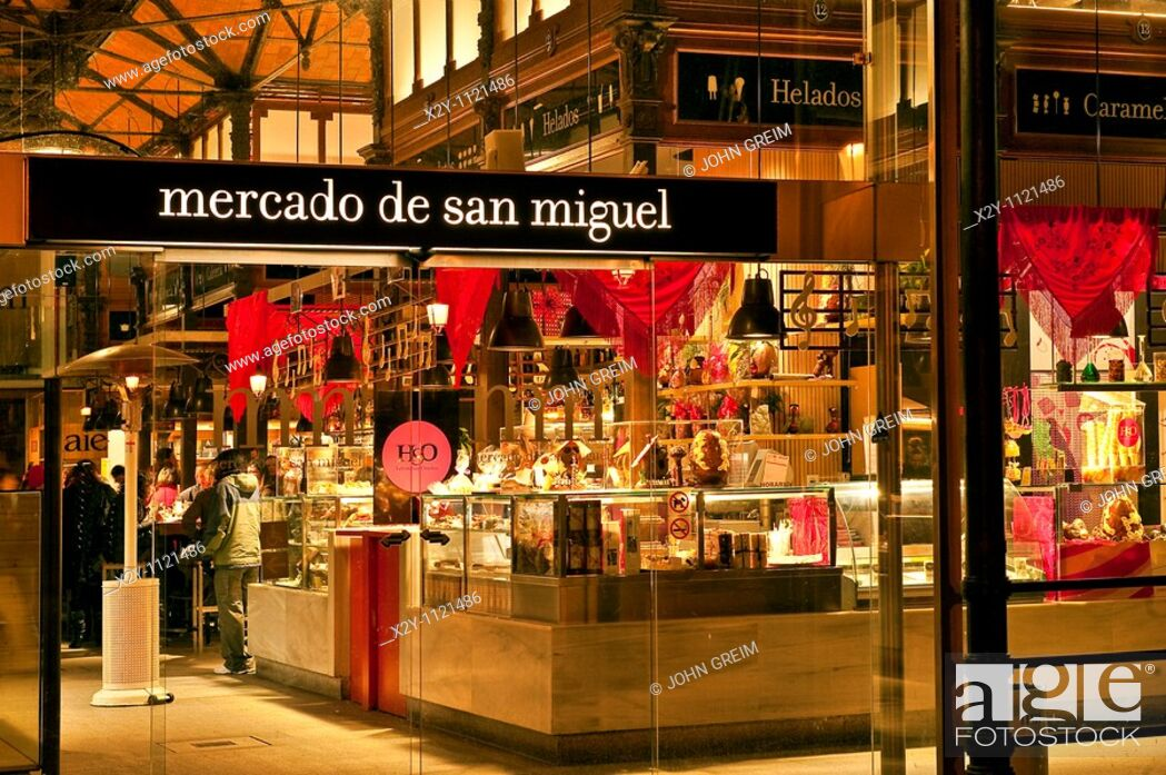 Stock Photo: Mercado de san Miguel, Madrid, Spain.
