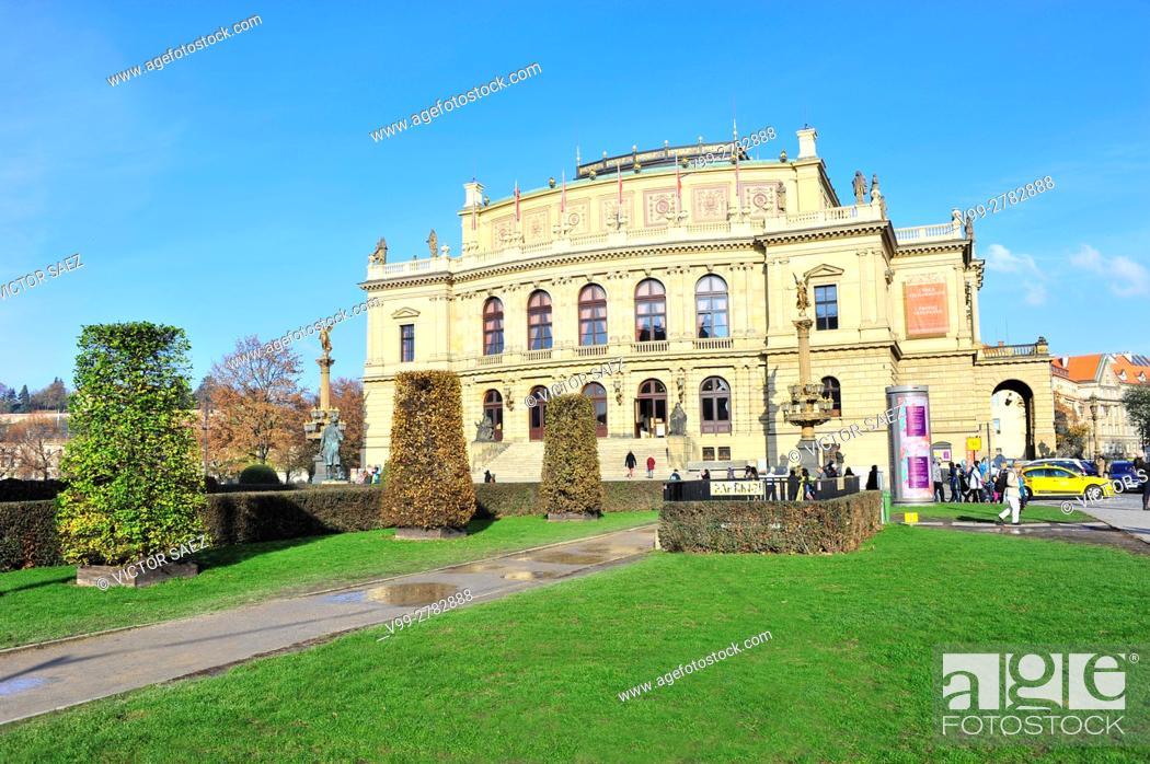 Stock Photo: The Rudolfinum in Prague.
